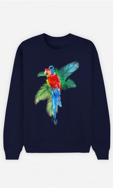 Sweat Bleu Parrot Party