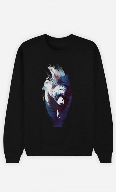 Sweat Noir Blue Bear