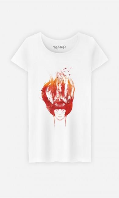T-Shirt Burning Forest