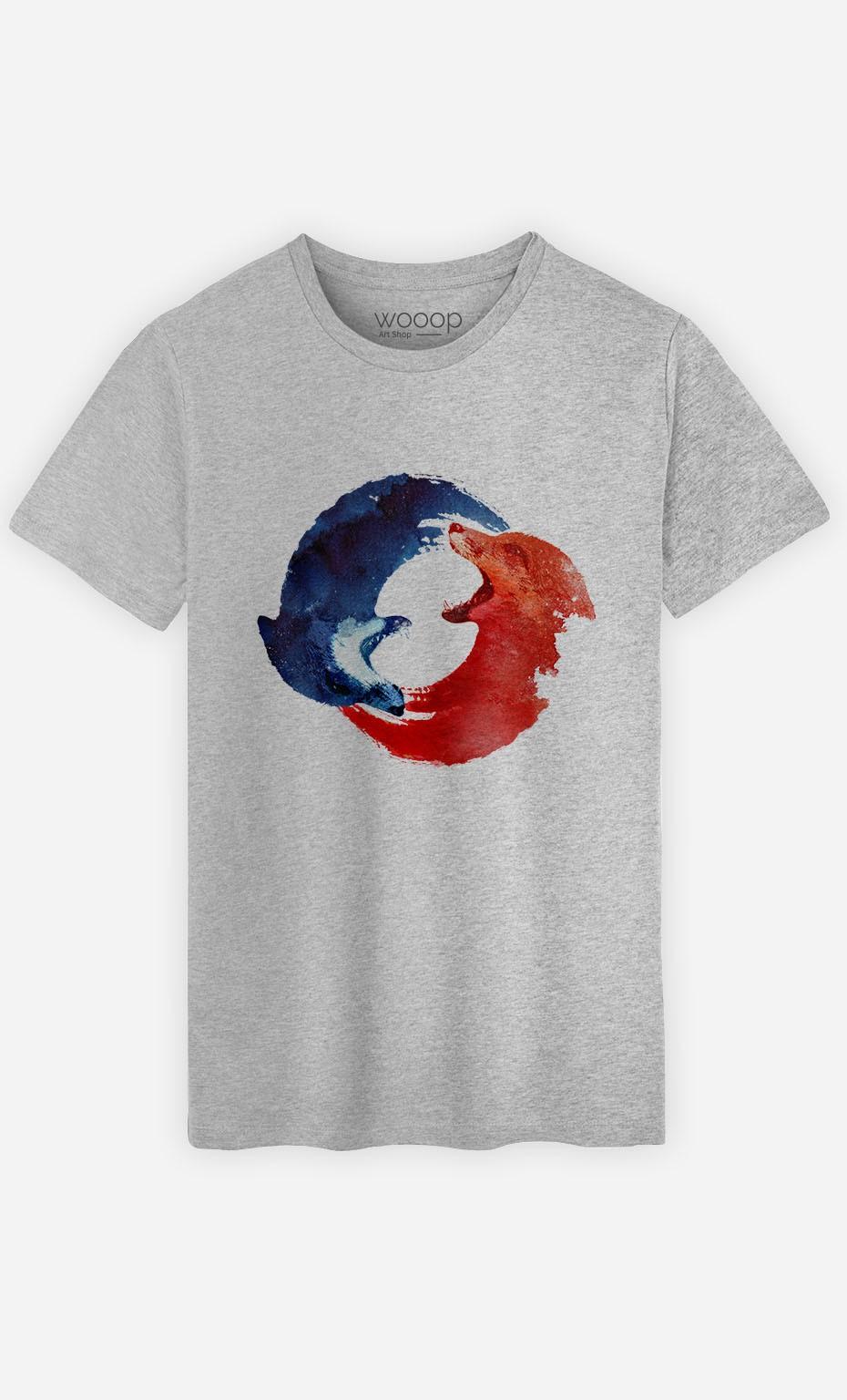 T-Shirt Ying & Yang Foxes