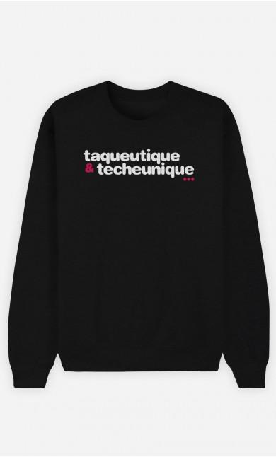 Sweat Bleu Taqueutique Et Techeunique