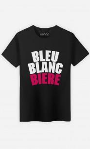 T-Shirt Bleu Blanc Bière