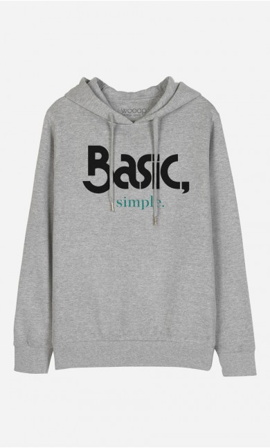 Sweat à Capuche Basic & Simple