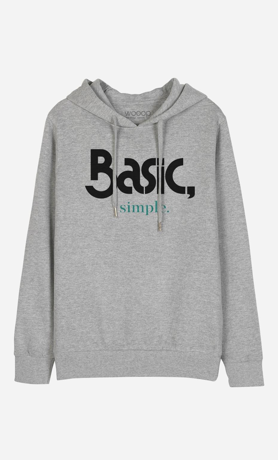 Sweat à Capuche Basic & Simple
