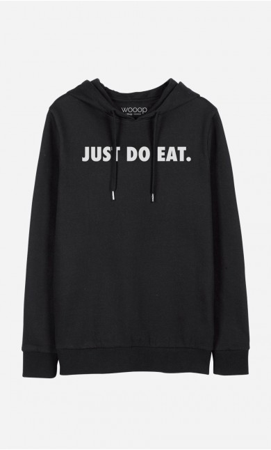 Sweat à Capuche Noir Just Do Eat