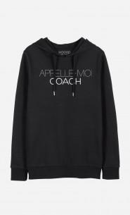 Sweat à Capuche Appelle-Moi Coach