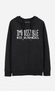 2b5996f5a7ec9 T-Shirt Femme Impossible N'est Pas Français léger et confortable - Wooop