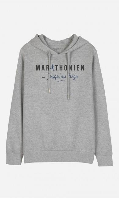 Sweat à Capuche Marathonien Jusqu'au Frigo