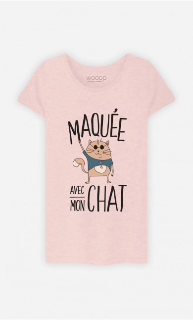 T-Shirt Maquée Avec Mon Chat