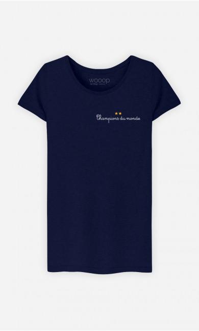 T-Shirt Champions du Monde - brodé