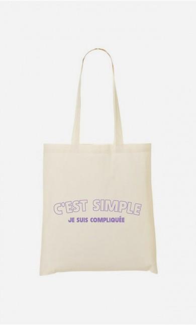 Tote Bag C'est Simple Je Suis Compliquée
