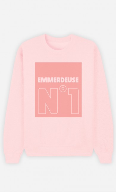 Sweat Rose Emmerdeuse N°1
