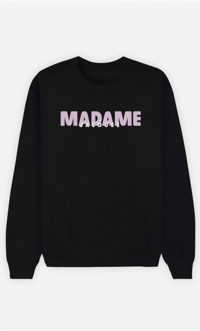 Sweat Noir Madame Jalouse