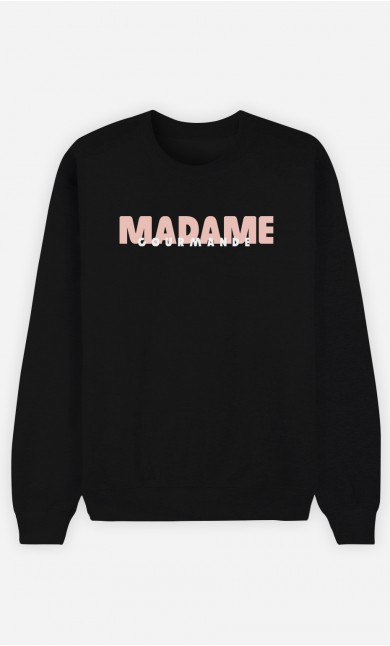 Sweat Noir Madame Gourmande