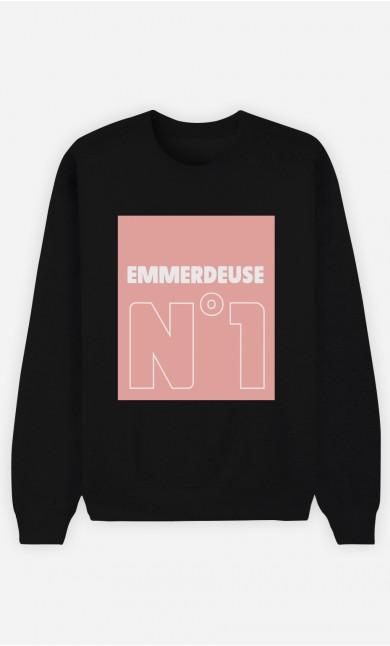 Sweat Noir Emmerdeuse N°1