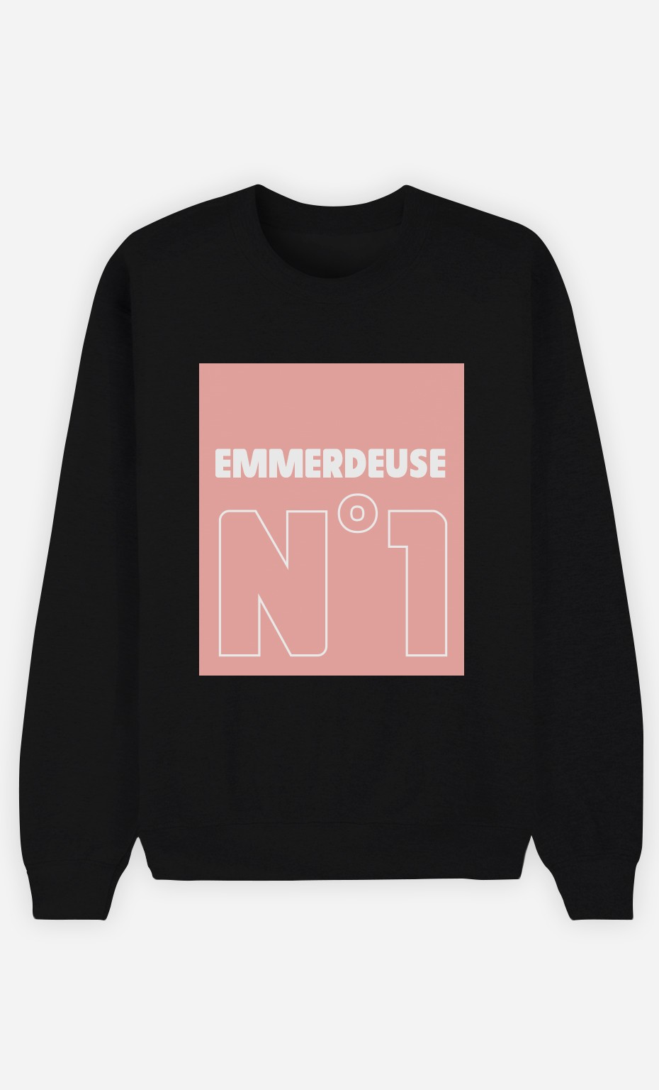Sweat Noir Emmerdeuse N°1