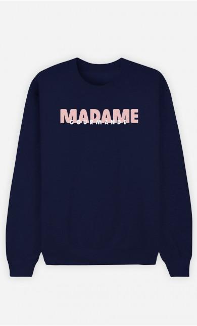 Sweat Bleu Madame Gourmande