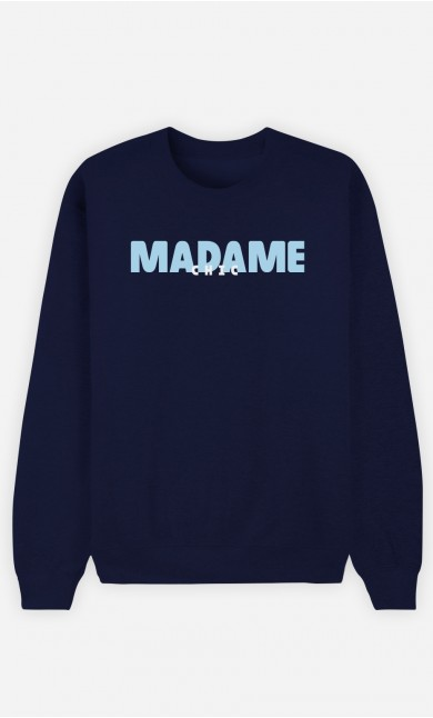 Sweat Bleu Madame Chic