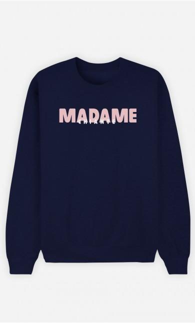 Sweat Bleu Madame Chiante