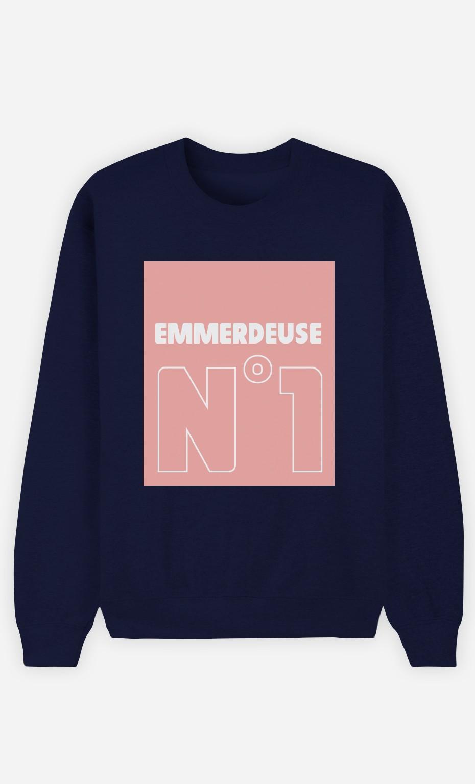 Sweat Bleu Emmerdeuse N°1