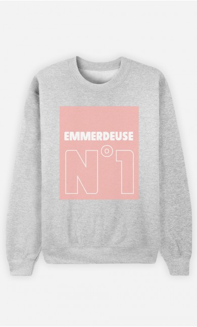Sweat Gris Emmerdeuse N°1