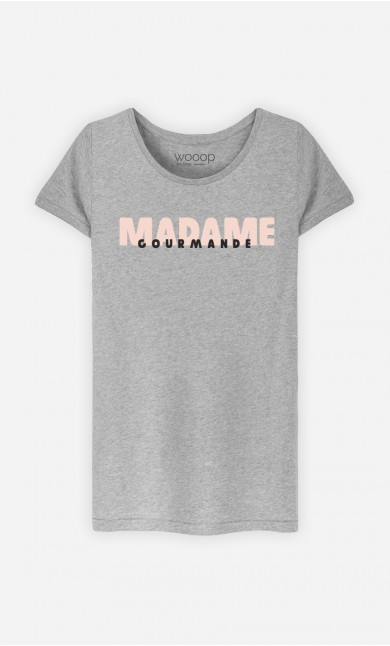 T-Shirt Gris Madame Gourmande