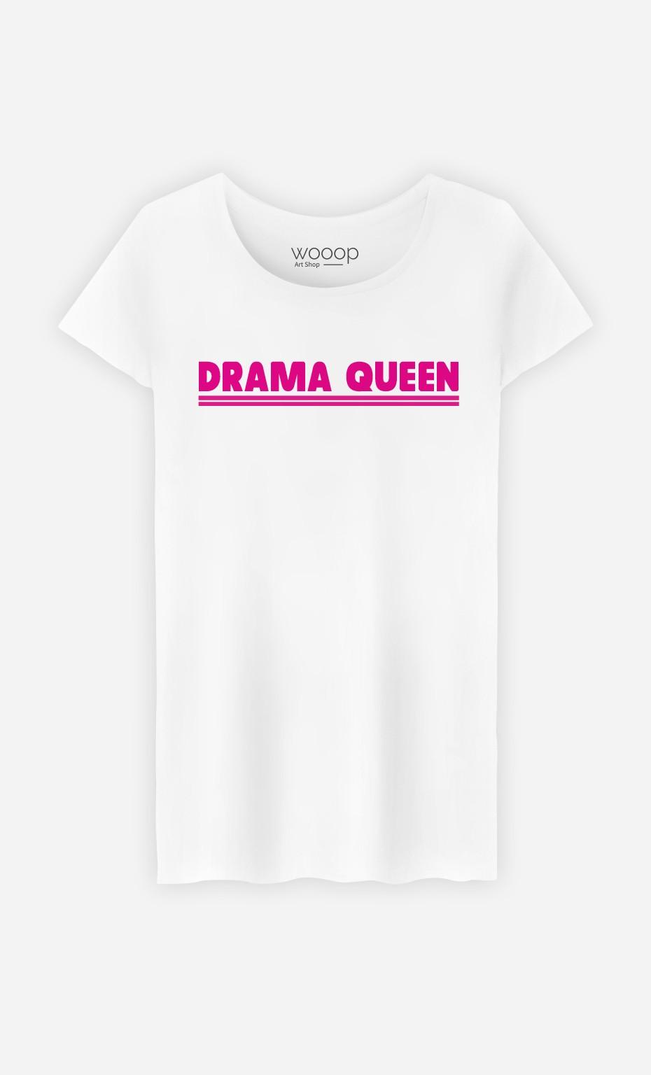 T-Shirt Blanc Drama Queen