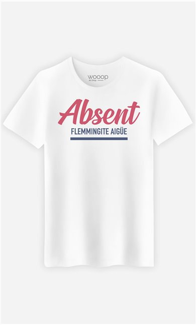 T-Shirt Homme Absent : Flemmingite Aigüe