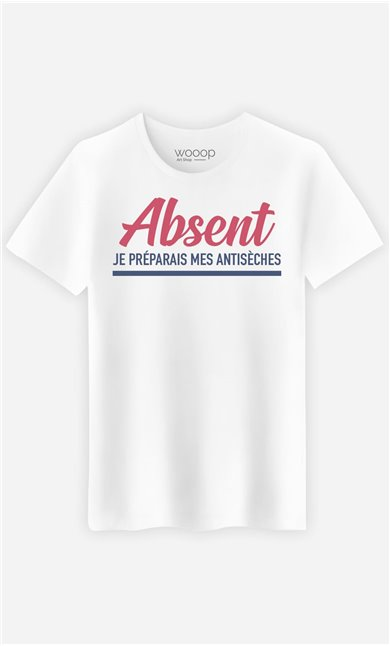 T-Shirt Homme Absent : Je Préparais Mes Antisèches