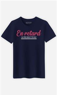 T-Shirt Homme En Retard : J'ai Pris Deux P'tits Dej'