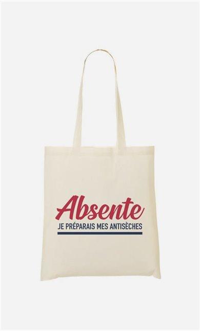 Tote Bag Absente : Je Préparais Mes Antisèches