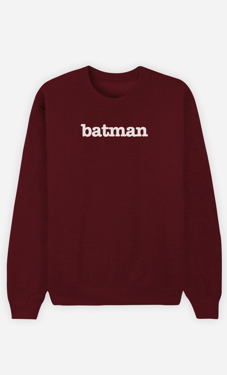Sweat Bordeaux Batman