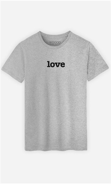 T-Shirt Gris Love