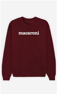 Sweat Bordeaux Macaroni