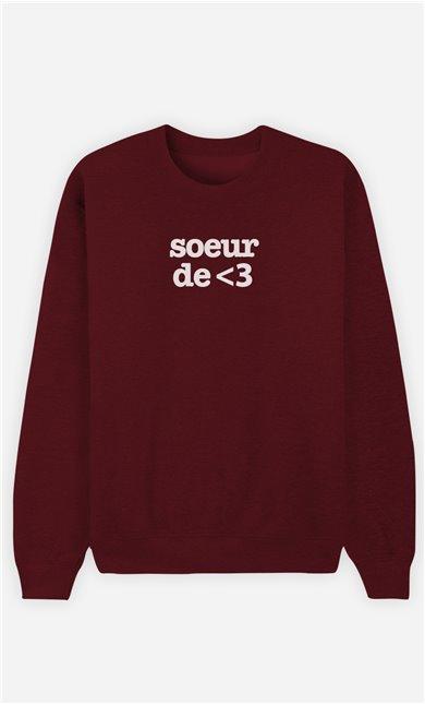 Sweat Bordeaux Sœur De Cœur