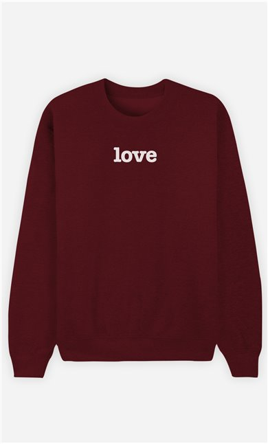 Sweat Bordeaux Love