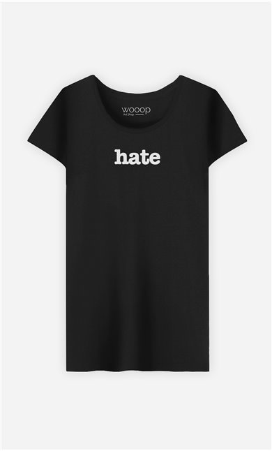 T-Shirt Noir Hate
