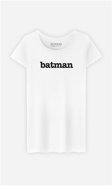 T-Shirt Blanc Batman