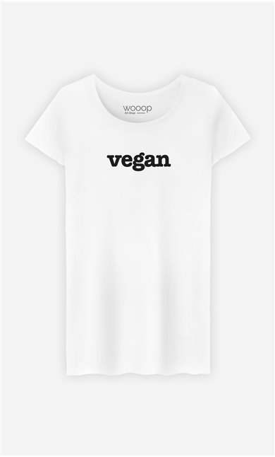 T-Shirt Blanc Vegan
