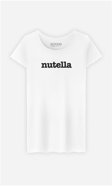 T-Shirt Blanc Nutella