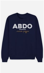 Sweat Bleu Homme Abdos Minos Pizza