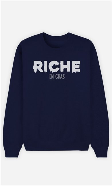 Sweat Bleu Homme Riche en gras