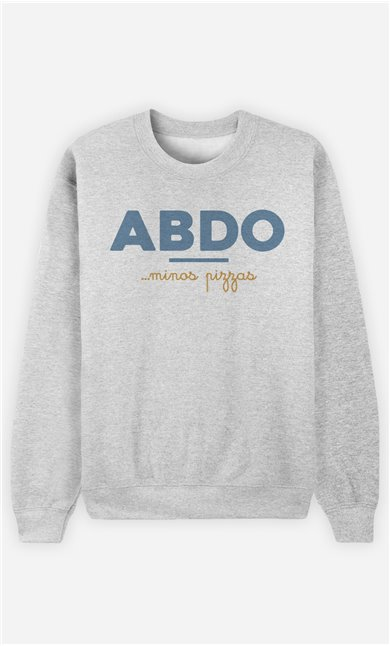 Sweat Gris Homme Abdos Minos Pizza