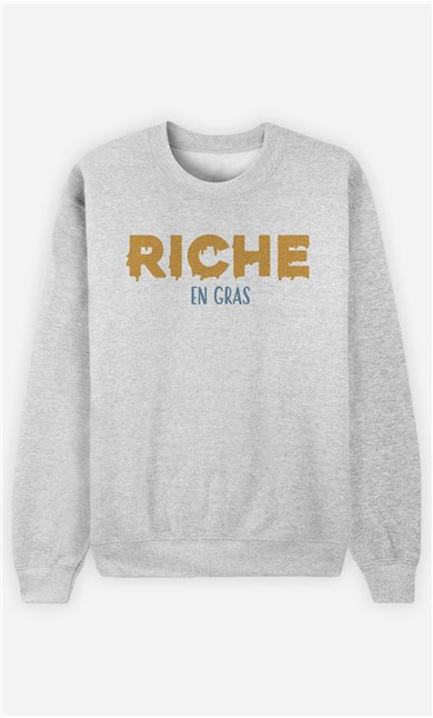 Sweat Gris Homme Riche en gras