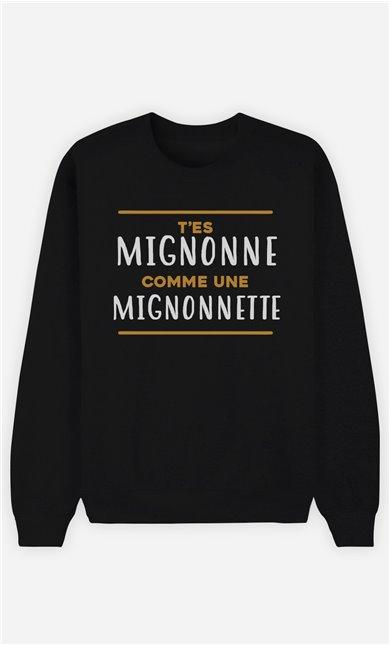 Sweat Noir Homme Mignonette