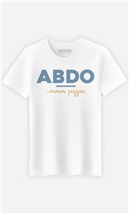 T-Shirt Blanc Homme Abdos Minos Pizza