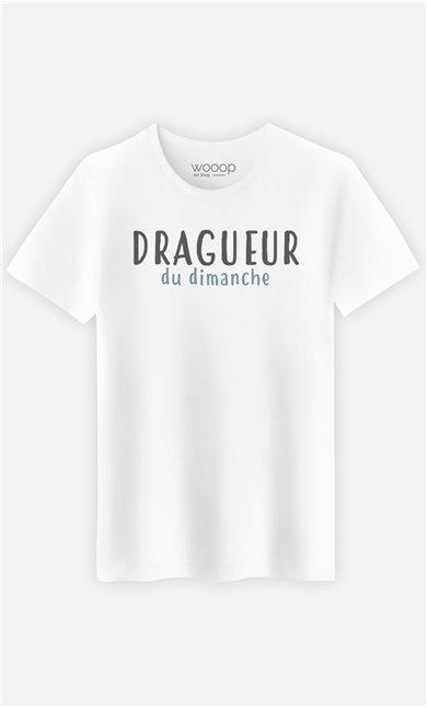 T-Shirt Blanc Homme Dragueur du dimanche