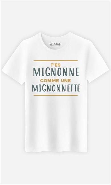 T-Shirt Blanc Homme Mignonette