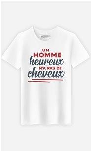T-Shirt Blanc Homme Un homme heureux