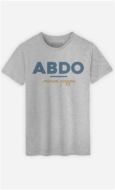 T-Shirt Gris Homme Abdos Minos Pizza